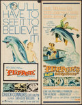 "Movie Posters:Adventure, Flipper & Other Lot (MGM, 1963). Inserts (2) (14"" X 36"").Adventure.. ... (Total: 2 Items)"