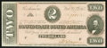 Confederate Notes:1864 Issues, T70 $2 1864 PF-12 Cr. UNL.. ...