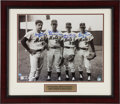 Baseball Collectibles:Photos, 1969 New York Mets Greats Multi Signed Oversized Photograph....