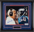 Football Collectibles:Photos, Lawrence Taylor & Bill Parcells Signed Oversized Photograph Display. ...