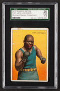 Boxing Cards:General, 1912 T227 Miner's Extra Jack Johnson SGC 20 Fair 1.5....