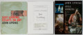 Books:Art & Architecture, John Updike. SIGNED/INSCRIBED. Group of Three Books Relating to Art. Various publishers and dates. Uncorrected proofs of Jus... (Total: 3 Items)