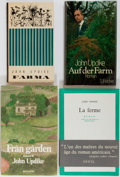 Books:Literature 1900-up, John Updike. INSCRIBED. Group of Four Foreign Language Editions of Of the Farm. Various publishers and years. German... (Total: 4 Items)