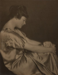 Jesse Banfield (1877-1946). Original Hand-Toned Silver Gelatin Photograph of His Niece, Muriel. Measures approximate