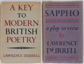 Books:Reference & Bibliography, [Lawrence Durrell]. Two Works by Lawrence Durrell including: AKey to Modern British Poetry. University of Oklahoma ...(Total: 2 Items)