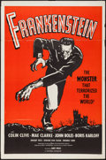 "Movie Posters:Horror, Frankenstein (Universal, R-1960s). One Sheet (27"" X 41"") Red Style. Horror.. ..."