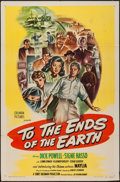 "Movie Posters:Exploitation, To the Ends of the Earth (Columbia, 1947). One Sheet (27"" X 41"")& Insert (14"" X 36""). Exploitation.. ... (Total: 2 Items)"