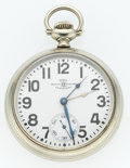 Timepieces:Pocket (post 1900), Ball 19 Jewel Railroad Standard Double Time Zone Pocket Watch. ...