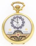 Timepieces:Pocket (post 1900), Rare Hebdomas Arnex Exposed Balance 8-Day Pocket Watch. ...