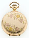 Timepieces:Pocket (post 1900), Illinois 15 Jewel Tri-Color Gold Filled Hunter's Case Pocket Watch....
