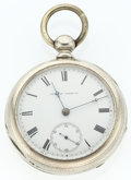 Timepieces:Pocket (post 1900), Waltham 17 Jewel Coin Silver Pocket Watch. ...