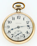 Timepieces:Pocket (post 1900), Hamilton 17 Jewel Series 974 Open Face Pocket Watch. ...