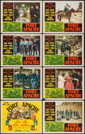 "Movie Posters:Western, Fort Apache (RKO, 1948). Lobby Card Set of 8, Lobby Cards (4) (11"" X 14""), & Trimmed Title Lobby Card (10"" X 13""). Western.... (Total: 13 Items)"