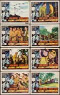 "Movie Posters:War, Flying Leathernecks (RKO, 1951). Lobby Card Set of 8 (11"" X 14"").War.. ... (Total: 8 Items)"