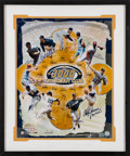 Baseball Collectibles:Photos, 3000 Strikeout Club Multi Signed Oversized Photograph. ...