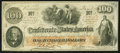 Confederate Notes:1862 Issues, Gutter T41 $100 1862 PF-22 Cr. 320A.. ...