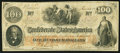 Confederate Notes:1862 Issues, Gutter T41 $100 1862 PF-16 Cr. 320.. ...