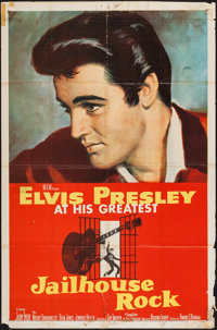 "Jailhouse Rock (MGM, 1957). One Sheet (27"" X 41""). Elvis Presley"