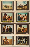 "Movie Posters:Western, The Searchers (Warner Brothers, 1956). U.S. Lobby Cards (6) & International Reprint Lobby Cards (2) (11"" X 14""). Western.. ... (Total: 8 Items)"