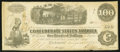 Confederate Notes:1862 Issues, Re-Issued at Houston T40 $100 1862 PF-5 Cr. 300.. ...
