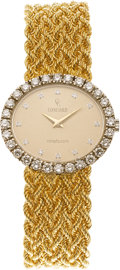 Estate Jewelry:Watches, Concord Lady's Diamond, Gold Wristwatch. ...