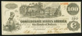 Confederate Notes:1862 Issues, T39 $100 1862 PF-2 Cr. UNL.. ...