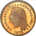 Proof Four Dollar Gold Pieces, 1879 $4 Flowing Hair, Judd-1635, Pollock-1833, R.3, PR65 PCGS....