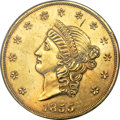 Territorial Gold, 1855 $50 Kellogg & Co. Fifty Dollar PR53 PCGS. K-4, Breen-7921, High R.6 in proof format; unknown in business strike format....