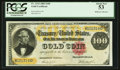 Large Size:Gold Certificates, Fr. 1214 $100 1882 Gold Certificate PCGS About New 53.. ...