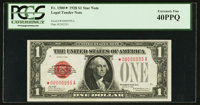 Fr. 1500* $1 1928 Legal Tender Note. PCGS Extremely Fine 40PPQ