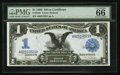 Large Size:Silver Certificates, Fr. 226a $1 1899 Silver Certificate PMG Gem Uncirculated 66 EPQ.. ...