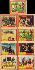 """Movie Posters:Western, The Horse Soldiers (United Artists, 1959). Lobby Card Set of 8 & Lobby Card (11"""" X 14""""). Western.. ... (Total: 9 Items)"""