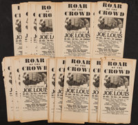 "Roar of the Crowd (Norman, 1953). Handbills (180) (6"" X 12.5""). Sports. ... (Total: 180 Items)"