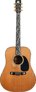 Musical Instruments:Acoustic Guitars, Gram Parsons' 1972 David Russell Young Dreadnought Acoustic Guitar....