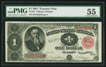 Large Size:Treasury Notes, Fr. 351 $1 1891 Treasury Note PMG About Uncirculated 55.. ...