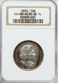 Commemorative Silver: , 1893 50C Columbian MS65 Prooflike NGC. NGC Census: (24/2). Mintage:1,550,405. ...