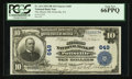 National Bank Notes:Pennsylvania, Pottsville, PA - $10 1902 Plain Back Fr. 624 The Miners NB Ch. #649. ...
