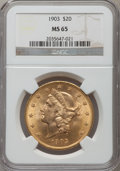 Liberty Double Eagles, 1903 $20 MS65 NGC....