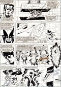 Original Comic Art:Panel Pages, John Romita Jr. and Alfredo Alcala Dazzler #1 X-Men DangerRoom Page 9 Original Art (Marvel, 1981)....