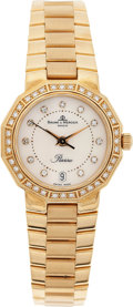 Estate Jewelry:Watches, Baume & Mercier Lady's Diamond, Gold Riviera Wristwatch. ...