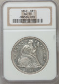 Seated Dollars: , 1842 $1 AU55 NGC. NGC Census: (84/148). PCGS Population (67/113).Mintage: 184,618. Numismedia Wsl. Price for problem free ...