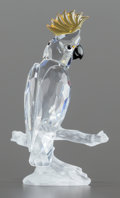 Art Glass, A SWAROVSKI CRYSTAL COCKATOO FIGURINE IN ORIGINAL BOX. Circa 2000.Marks: (SWAN), ©. 3-1/8 inches (7.9 cm). ...