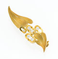 Estate Jewelry:Brooches - Pins, Diamond, Gold Brooch, Andrew Grima. ...