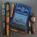 Miscellaneous, A GROUP OF SEVEN BRITISH POLICE TRUNCHEONS WITH A COLLECTOR'S BOOK.19th century. 17-1/2 inches long (44.5 cm) (longest). ... (Total: 8Items)