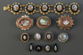 Estate Jewelry:Bracelets, A COLLECTION OF TWELVE ITALIAN MICRO MOSAIC JEWELRY PIECES. Circa1890. 7-1/2 inches long (19.1 cm) (bracelet). ... (Total: 12 Items)