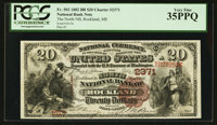 Rockland, ME - $20 1882 Brown Back Fr. 502 The North NB Ch. # 2371