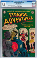 Golden Age (1938-1955):Science Fiction, Strange Adventures #14 (DC, 1951) CGC VF- 7.5 Off-white to whitepages....