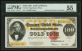 Large Size:Gold Certificates, Fr. 1215 $100 1922 Gold Certificate PMG About Uncirculated 55.. ...