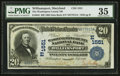 National Bank Notes:Maryland, Williamsport, MD - $20 1902 Date Back Fr. 643 The Washington CountyNB Ch. # (E)1551. ...