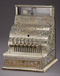 Antiques:Decorative Americana, Nickel plated Country Store Cash register ca early 1900s....